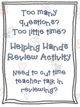 Helping Hands Review Activity