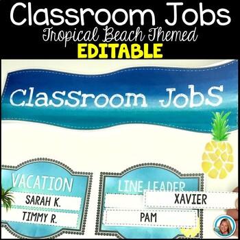 Classroom Jobs Poster by Teacher's Brain