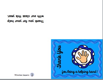 Helping Hands Thank You Cards