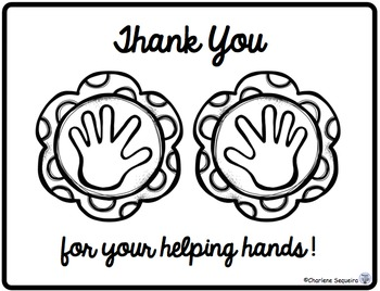 Helping Hands Thank You Notes