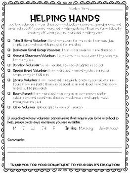 Helping Hands Volunteer Sign-Up Form