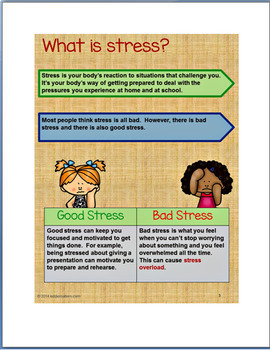 Helping Kids Cope with Stress- lesson, relaxation techniques, activitiess