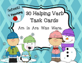 Helping/ Linking Verb Task Cards - Winter Themed