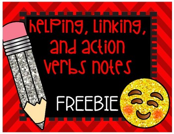 Helping, Linking, and Action Verbs FREEBIE