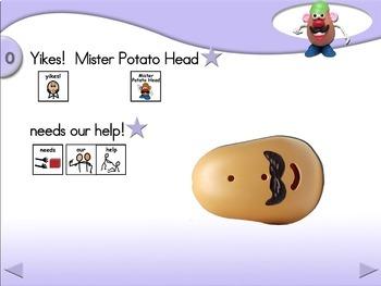 Helping Mister Potato Head - Animated Step-by-Step Story - SymbolStix