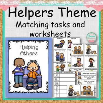 Helping Others Matching Tasks and Worksheets