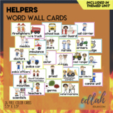 Helping Our Community Vocabulary Word Wall Cards (set of 2