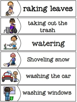 Helping Outdoors Matching Tasks and Worksheets