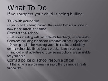 Helping Parents Understand Bullying