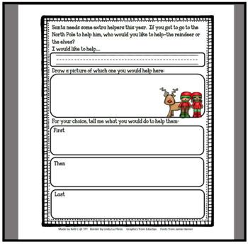 December Narrative Writing- Helping a Reindeer or an Elf In Santa's Workshop
