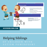 Helping Siblings of Children with Autism Parent Training