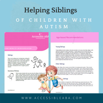 Helping Siblings of Children with Autism eBook (Handout for Parents)