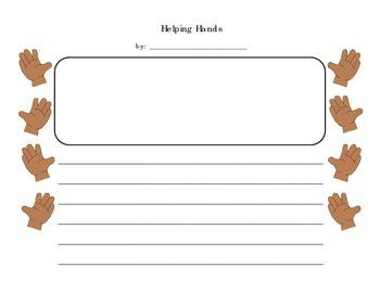 Helping Someone - A Personal Narrative Writing Packet