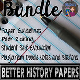 Helping Students Write Better History Papers Bundle