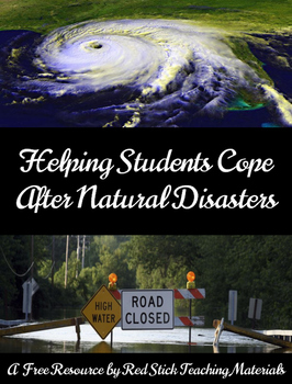 Freebie: Helping Students Cope with Natural Disasters