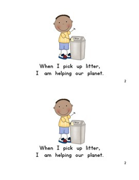 """""""Helping The Earth"""" Early Reader Book"""