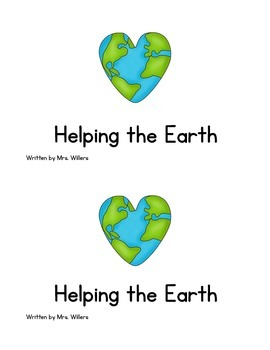 """Helping The Earth"" Early Reader Book"