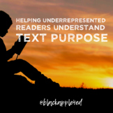 Helping Underrepresented Readers Understand Text Purpose