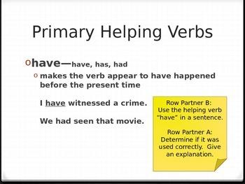 Helping Verb Intro