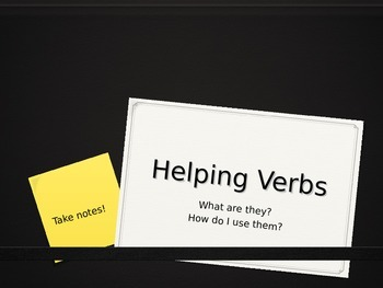 Helping Verb Intro