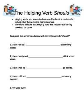 "Helping Verb ""Should"""