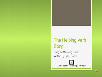 Helping Verb Song