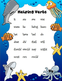 Helping Verbs Anchor Chart