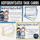 Helping Verbs task cards and anchor charts