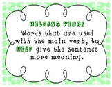 Helping Verbs Charts and Song Fleur de lis