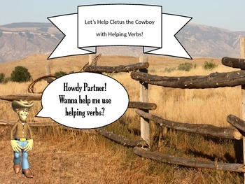 "Helping Verbs - ""Cleetus the Cowboy"""