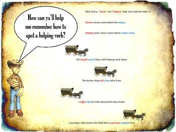 "Helping Verbs - ""Cleetus the Cowboy"""