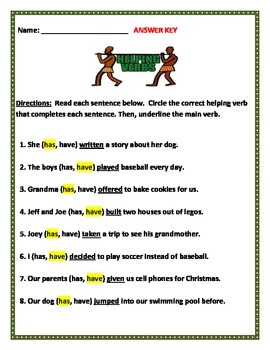 Helping Verbs - HAVE verses HAS. Common Core