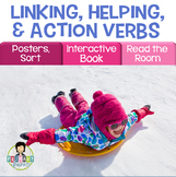 Linking Verbs, Helping Verbs, Action Verbs Activity Pack WINTER
