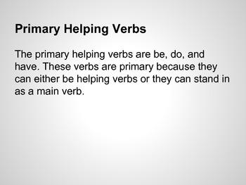 Helping Verbs Mini Lesson