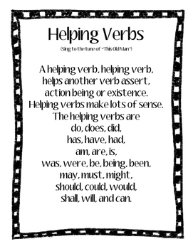 Helping Verbs Poster