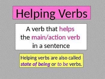 Helping  Verbs PowerPoint & Interactive Activity