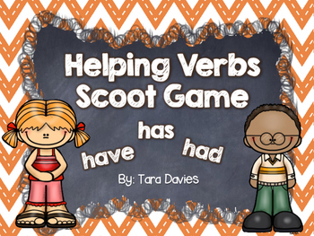 Helping Verbs Scoot Game
