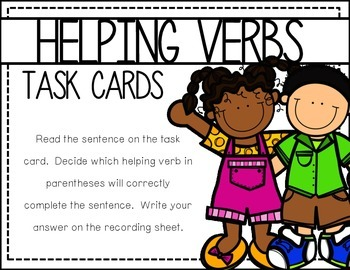 Helping Verbs Task Cards