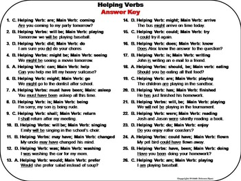Helping Verbs Task Cards 2nd 3rd 4th 5th Grade
