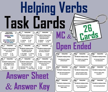 Helping Verbs Task Cards/ Helping Verbs Activity/ Helping