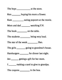 Helping Verbs Was and Were Worksheet