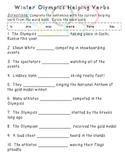 Helping Verbs - Winter Olympics Theme