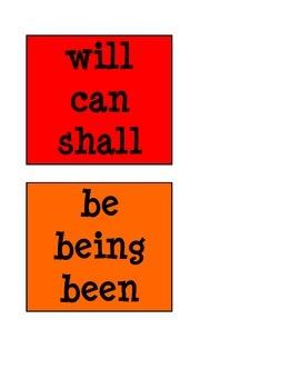 Helping Verbs Word Wall/Bulletin Board