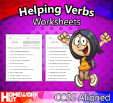 Distance Learning - Helping Verbs Worksheets