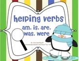 Helping Verbs am, is, are, was, were Winter/Penguin Theme for MIMIO