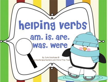 Helping Verbs am, is, are, was, were Winter/Penguin Theme for SMARTboard