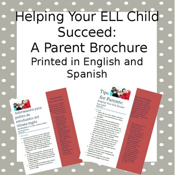 Helping Your ELL Child Succeed: Tips for Parents. Printed