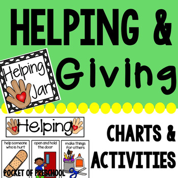 Helping and Giving Charts and Activities