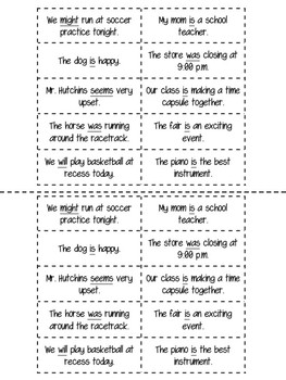 Helping and Linking Verb Sort