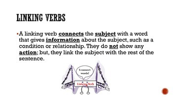 Helping and Linking Verbs Presentation and Guided Notes
